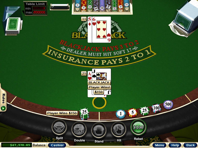 blackjack games for free